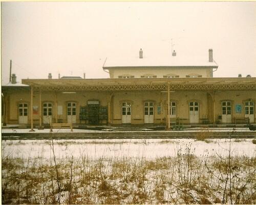 La gare en 1980 en hiver