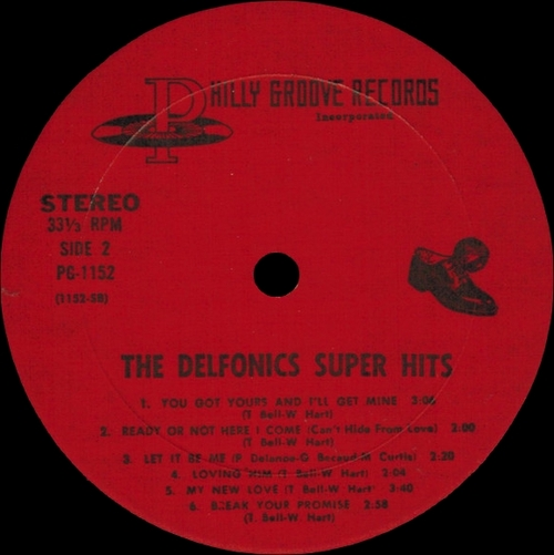 "The Delfonics : Album "" Super Hits "" Philly Groove Records PG 1152 [ US ]"