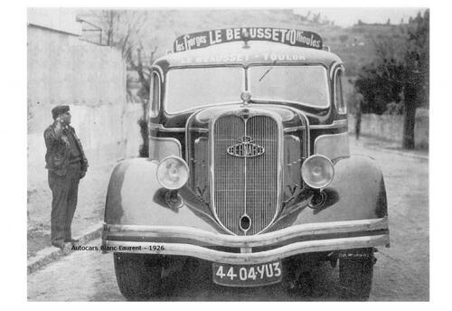 Les autocars du début du 20 eme siècle