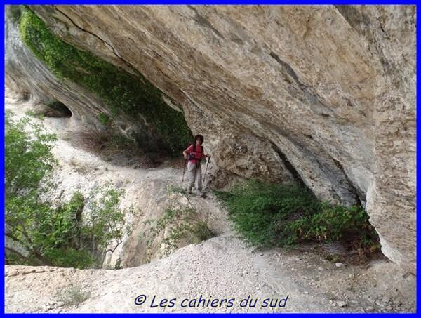 La combe de Badarel et les rochers de Baude
