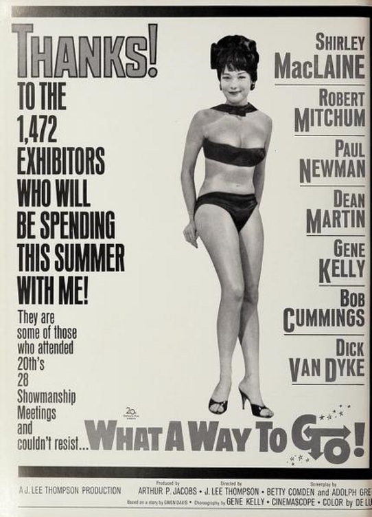 WHAT A WAY TO GO BOX OFFICE USA 1964