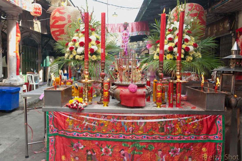 Une fête chinoise près du Chao Phraya à Bangkok