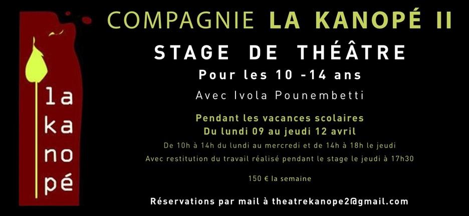 Stage de théâtre : 10 - 14 ans