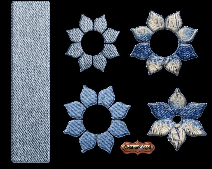 Kit tout en jeans et tube kordouane par Jopel