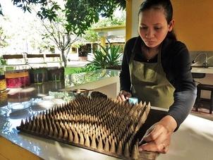 fabrication de cônes d'encens