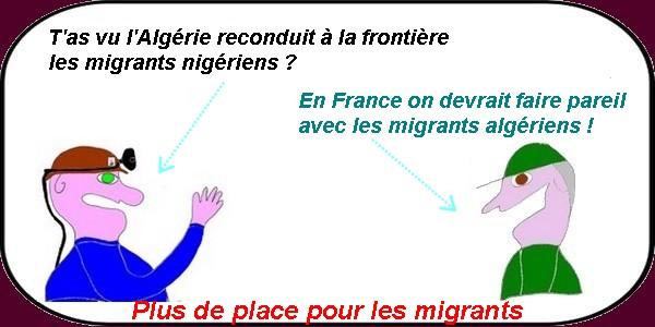 les migrants en Algérie