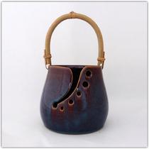 Bol à laine_Yarn bowl brun bleuté