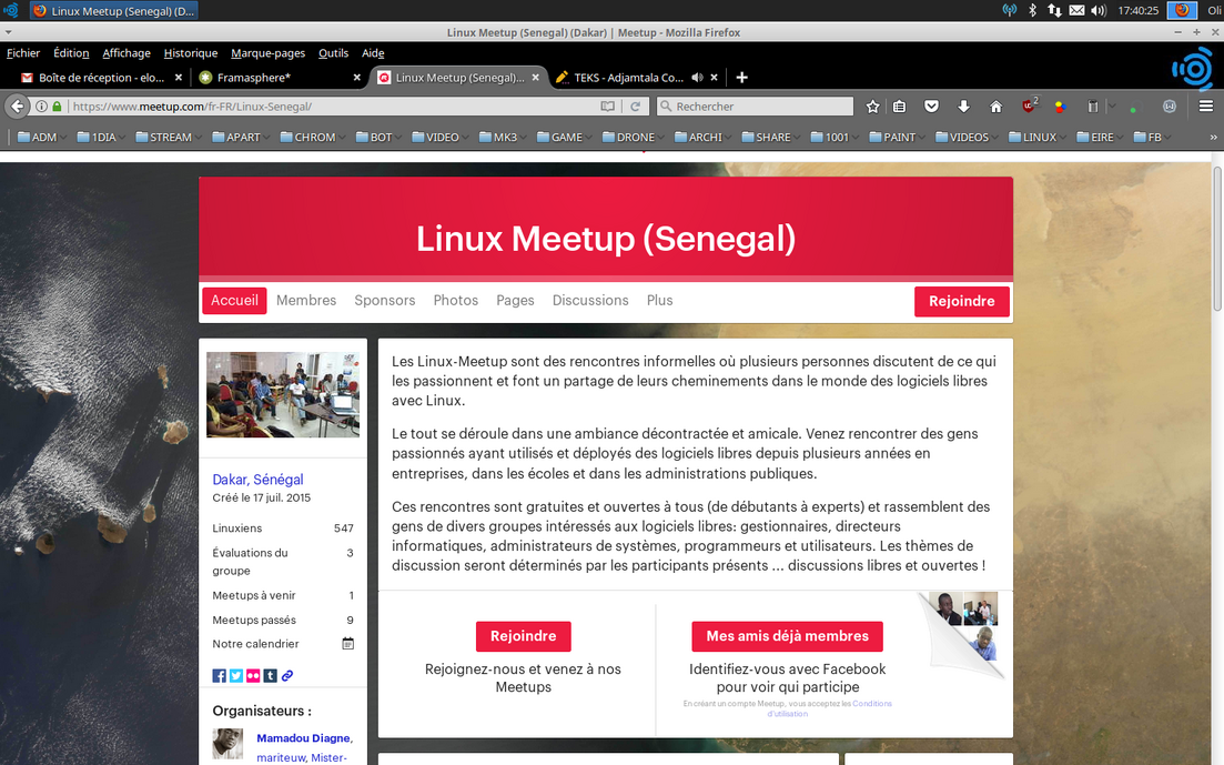 LINUX MEETUP DAKAR SOUNOUGAL
