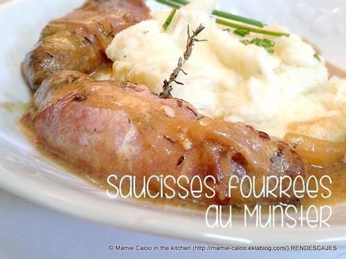 Saucisses fourrées au Munster