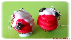 Boucles cup-cake rouge