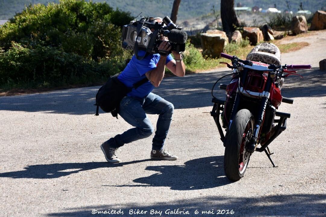 moto de Sarah Lezito - Championne de stunt