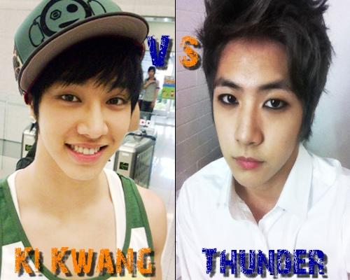 Ki Kwang (B2ST) vs Thunder (MBLAQ) - Round 15