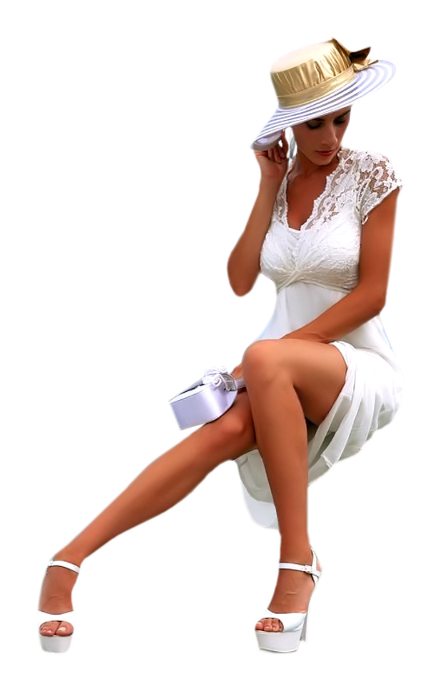 Kalapos női tubés képek