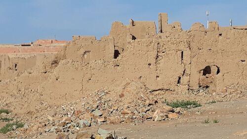 Une vieille casbah en ruine