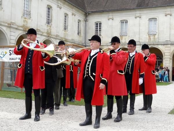Une belle fête de la chasse 2014 a eu lieu dans l'abbaye d'Auberive...