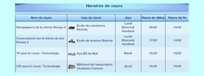Université: Jour 1