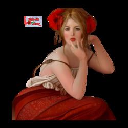 tube femme en rouge
