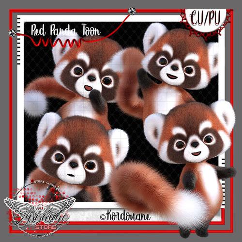 Petit panda roux Toon - Red panda Toon