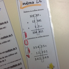 Eventail de maths Mémo