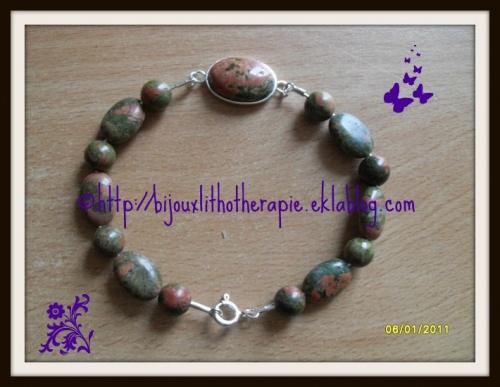 bracelets argent et pierre