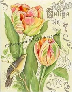 "Image ou Transfert  "" Tulipes """