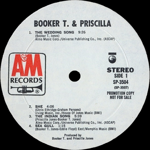 "1971 : Album "" Booker T. & Priscilla "" A&M Records SP-3504 [ US ]"