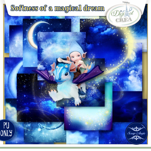 SOFTNESS OF A MAGICAL DREAM by Scrap'Angie