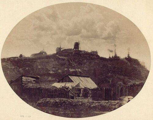 PARIS 1845 - Les moulins de Montmartre