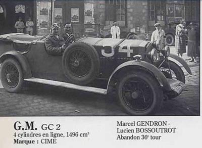 Le Mans 1925 Abandons I