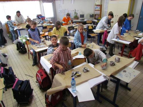 Les élèves de CE2 CM1 deviennent préhistoriques