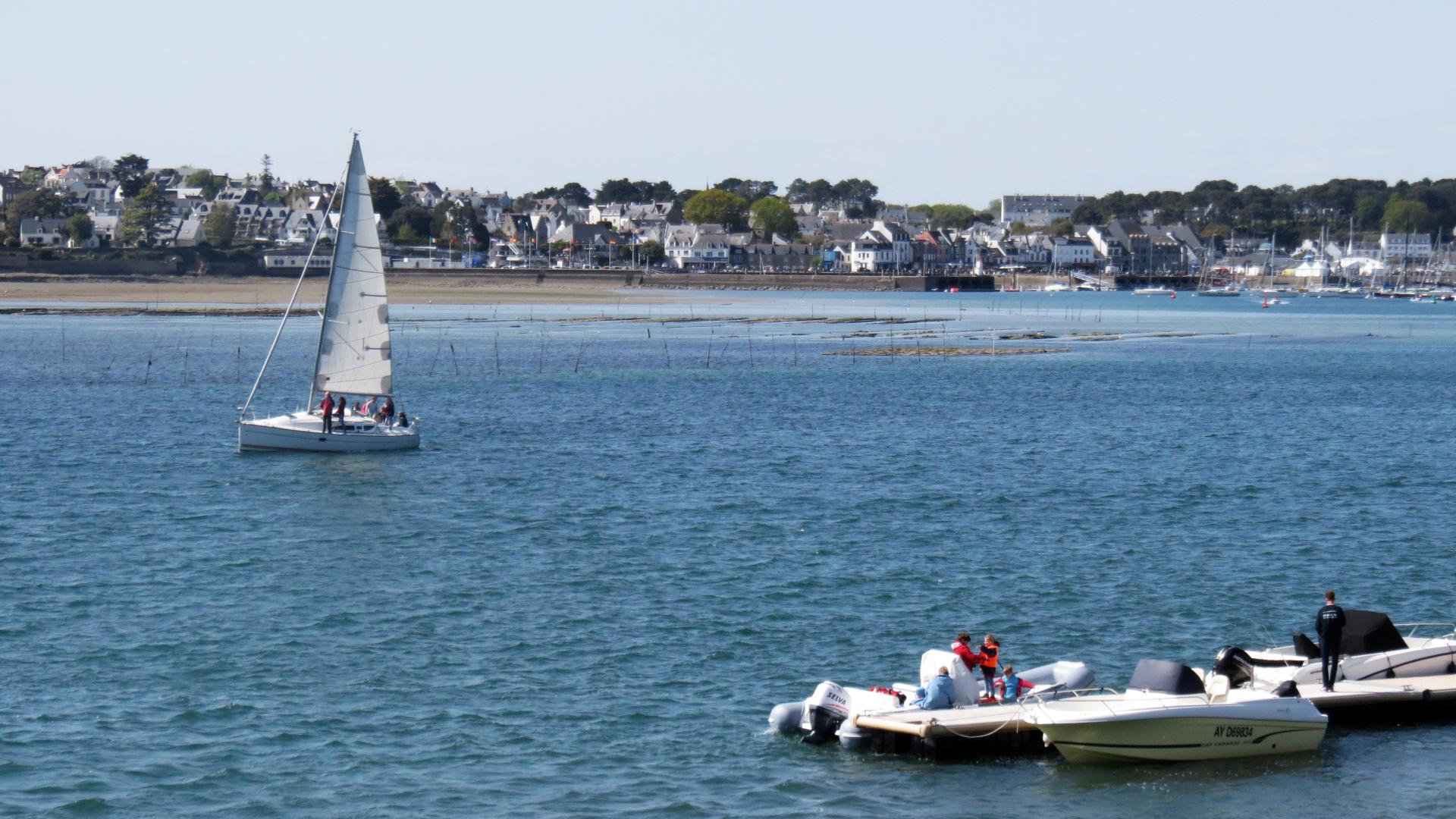 Saint Philibert Morbihan Dimanche De Paques Le Bord De Mer Oceanique