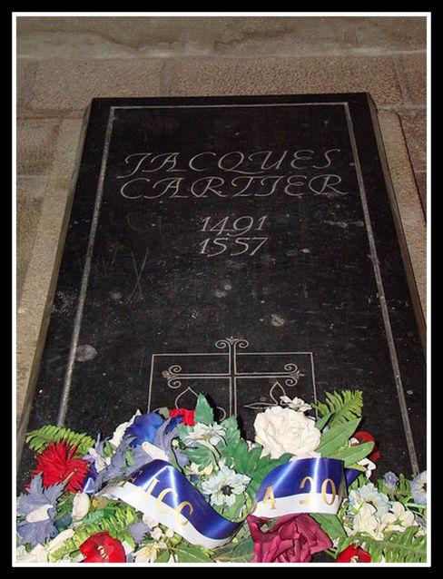 Jacques Cartier -le malouin pierre tombale