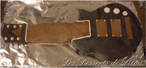 Gateau 3D guitare