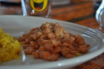 Crevette à la sauce persillé