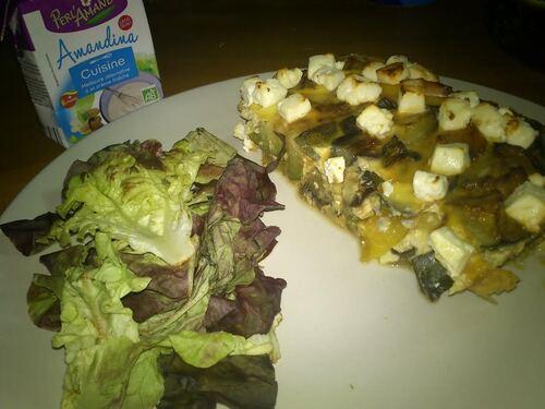 Clafoutis au légume d'été à la crème df'amande cuisine #Perl'Amande#