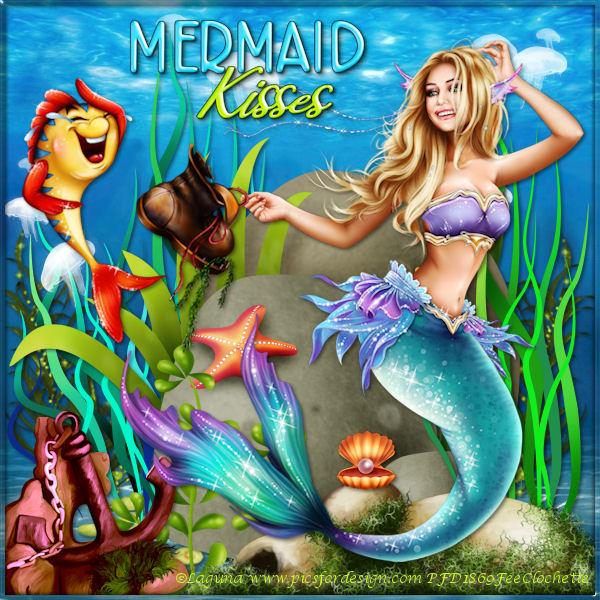 Mermaid and fish