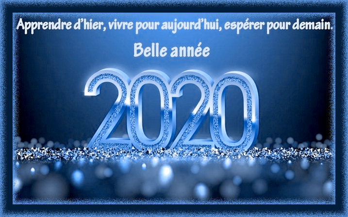Belle Année à Toutes et Tous...