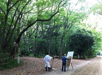kyoto-shimogamo-jinja-shrine-tadasu-no-mori-forest-painter