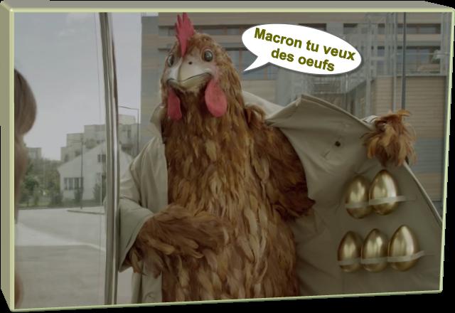 Macron tu veux des oeufs (Humour)