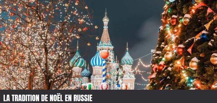 Célébration de Noël en Russie