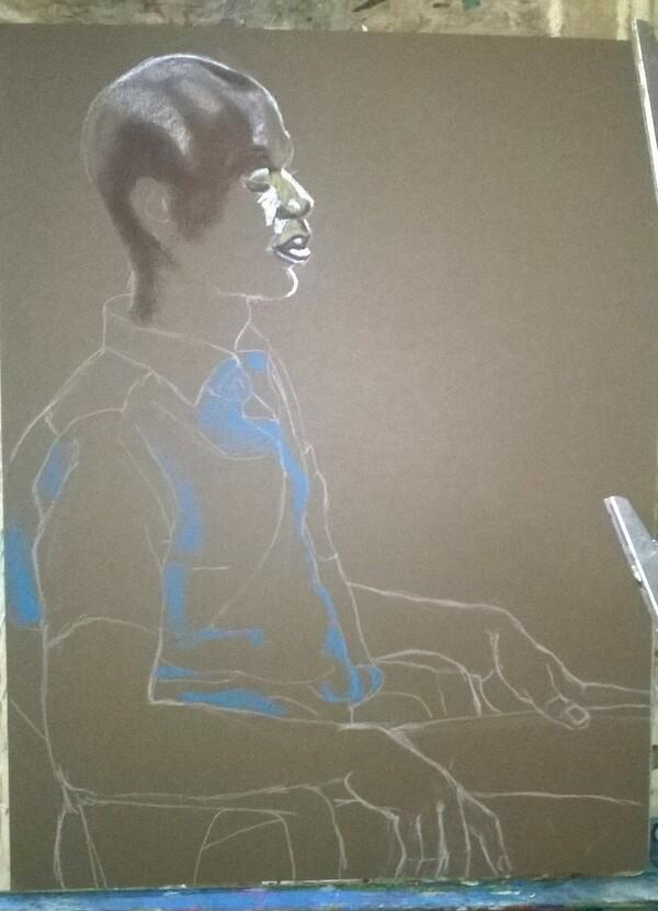 Jeudi - L'homme en chemise bleue