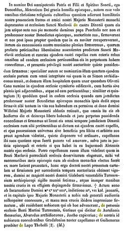 Donation de Saint-Malo de Dinan à Marmoutier