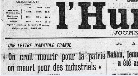 """VIDEO: """"On croit mourir pour la patrie, on meurt pour des industriels"""""""