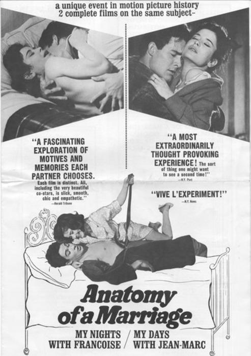 ANATOMY OF A MARRIAGE - LA VIE CONJUGALE BOX OFFICE USA 1964