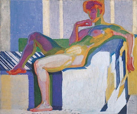 Frantisek Kupka, Plans par couleurs, grand nu, 1910