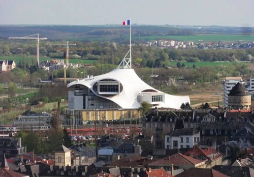 Pompidou vu depuis la cathédrale