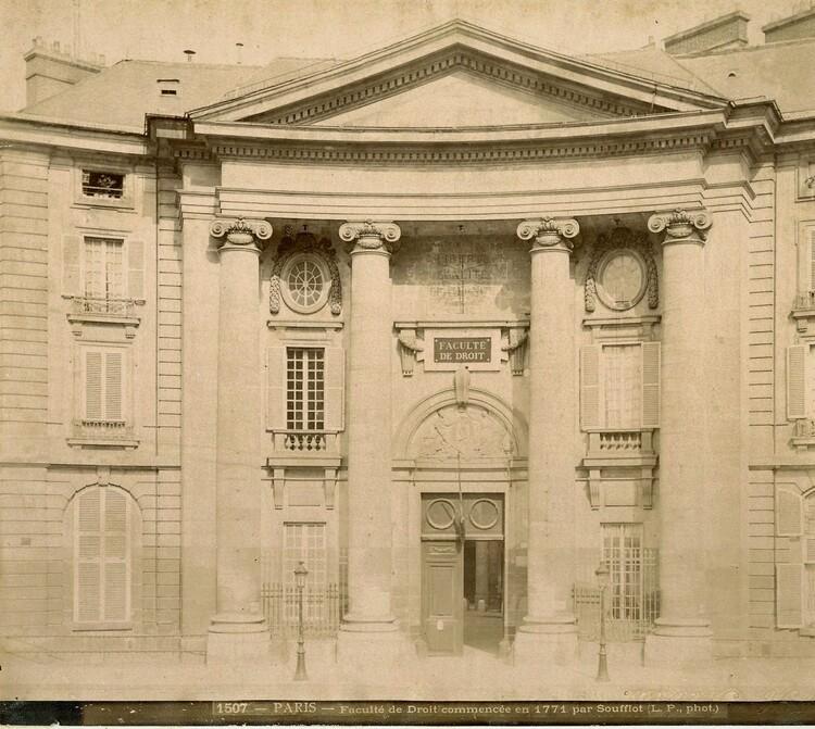 Faculté de Droit de Paris, Place du Panthéon (XIXème siècle).
