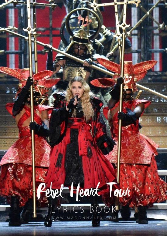 Rebel Heart Tour The Lyrics Book