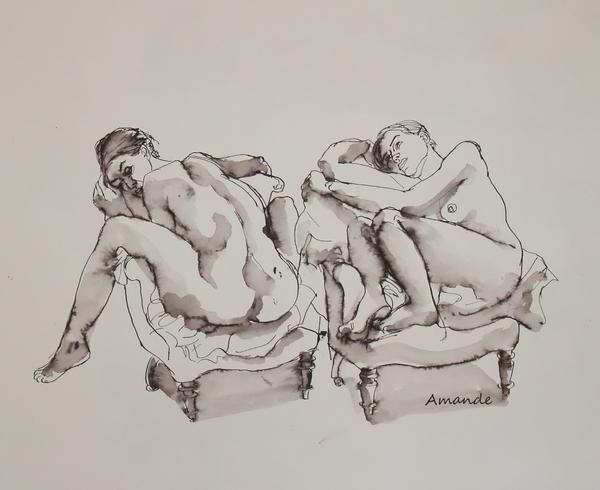 Lundi - Un fauteuil, deux poses