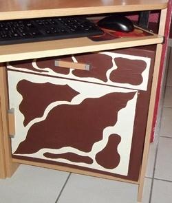 Meuble carton encastrable bureau